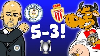 🔥5-3🔥 Man City vs Monaco - Champions League 2017 Last 16 1st Leg(ALL GOALS and HIGHLIGHTS -parody)