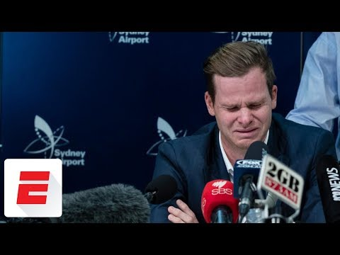 Banned Australia cricketer Steven Smith cries during emotional news conference | Cricinfo | ESPN