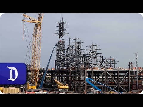 Star Wars: Galaxy's Edge Construction Milestone Celebrated at Disneyland Park
