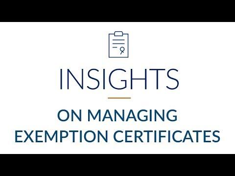 exemption certificate management software