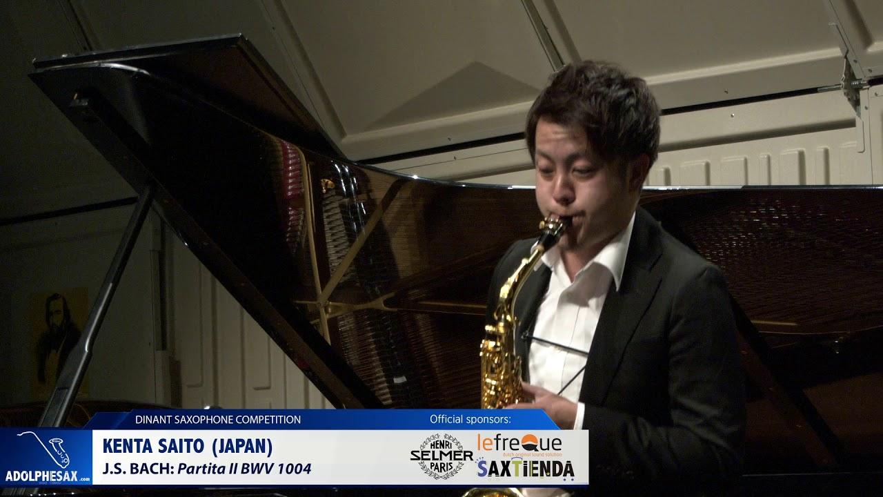 Kenta Saito (Japan) - Partita II BWV 1004 by J.S.Bach (Dinant 2019)
