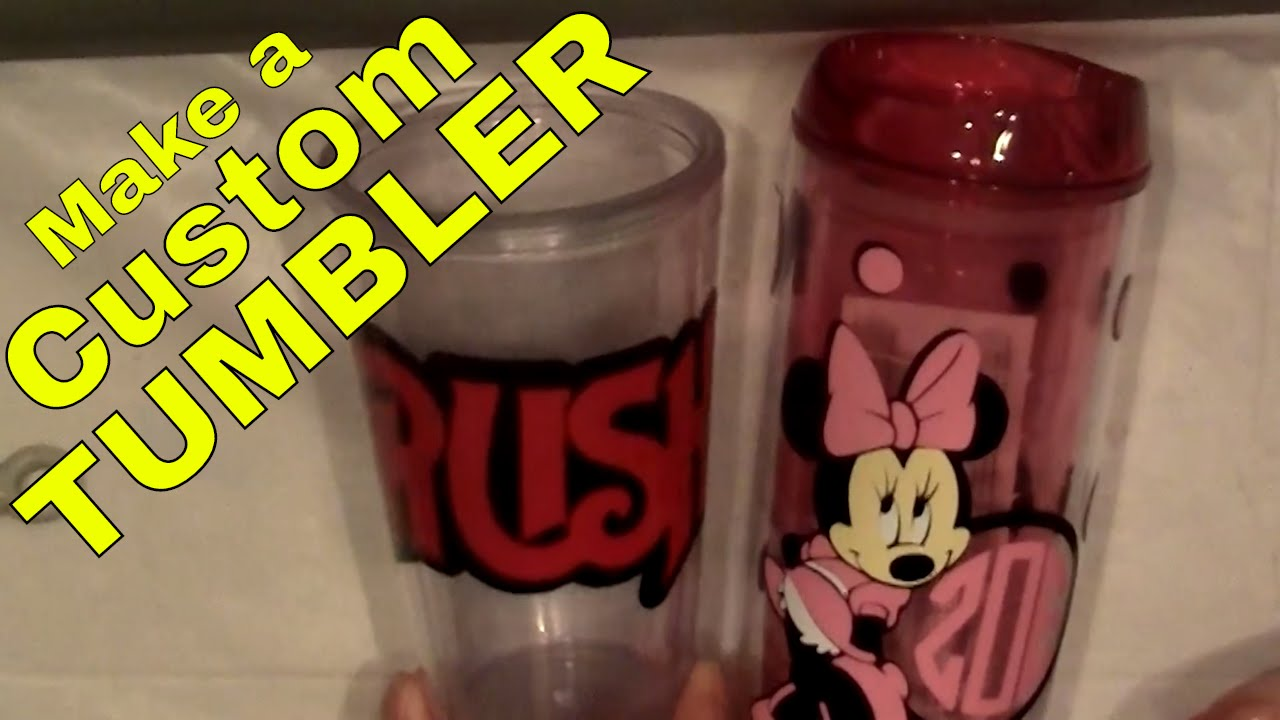 How To Make A Custom Cup Or Tumbler With Vinyl Decals Scrapping - Custom vinyl decals diy
