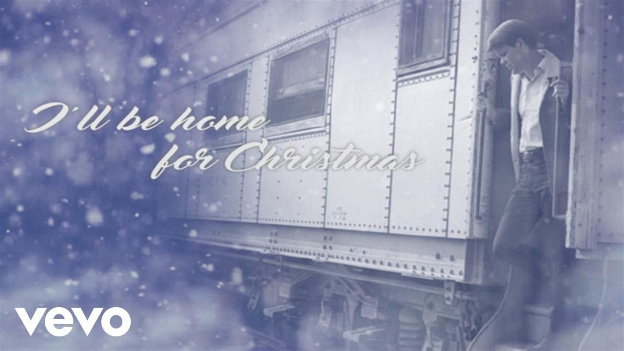 Glen Campbell - I\'ll Be Home For Christmas (Lyric Video) - YouTube