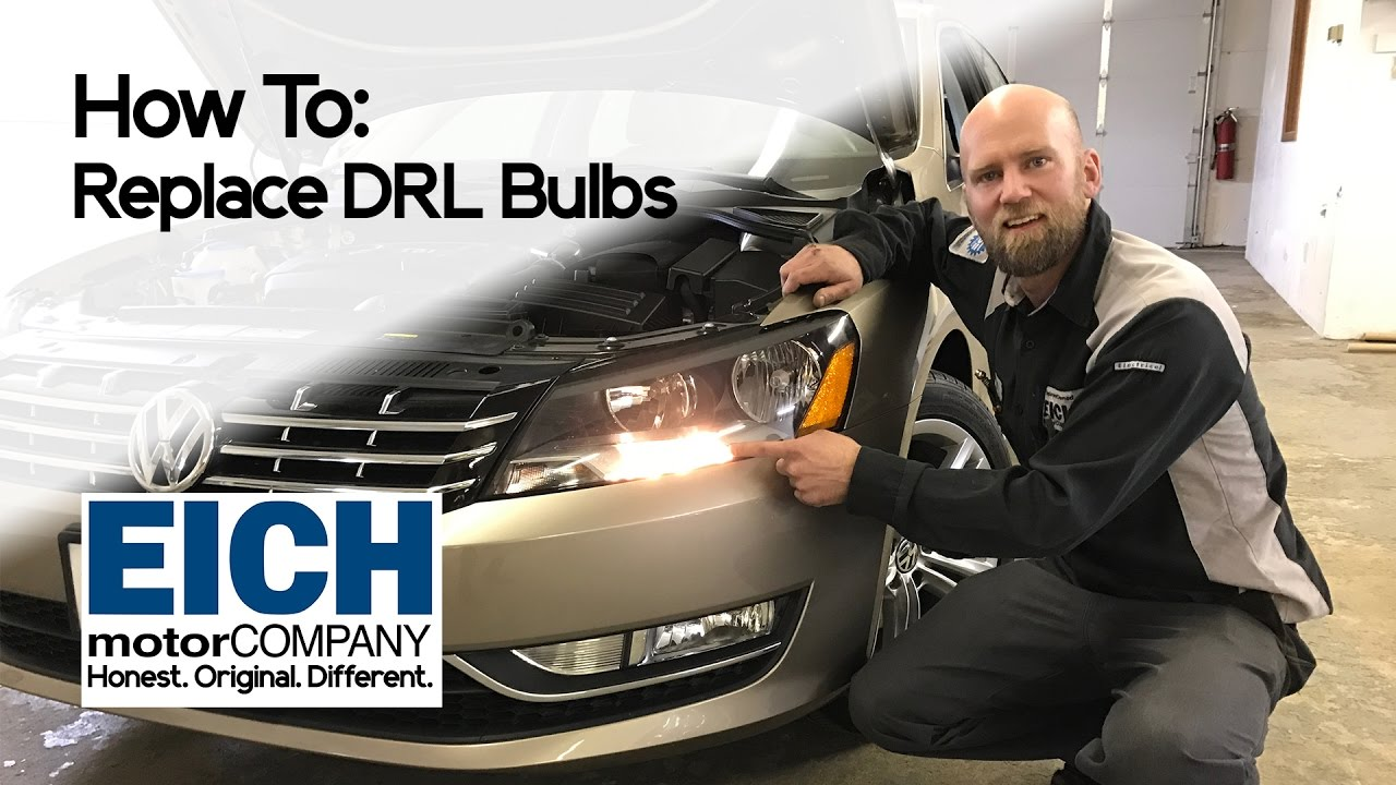 how to replace daytime running lights on a vw passat or jetta eich motor company [ 1280 x 720 Pixel ]