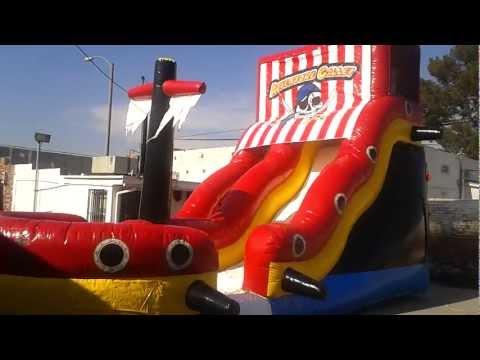 Pirate Wet Or Dry Slide Inflatable Rental ***JJ Jumpers San Gabriel Valley CA***