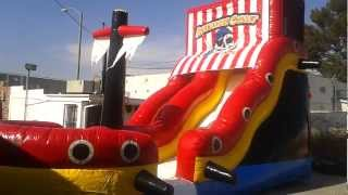 Pirate Wet or Dry Slide Inflatable Rental ***JJ Jumpers San Gabriel Valley CA***