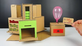 Crafts with Cardboard - How to make a Balloon Vending Machine out of Cardboard at Home