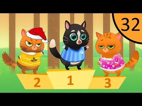 Суровый КОТИК БУБУ #32. Соревнование. Мультик ИГРА про котят на Игрули TV