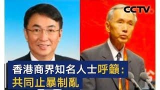香港商界知名人士纷纷呼吁共同止暴制乱 | CCTV