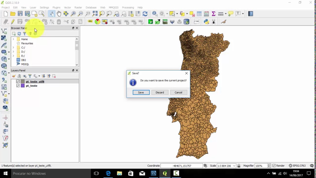 QGIS 2 18 x - How to import a shapefile to MySQL only using the Copy&Paste  command in Map Canvas