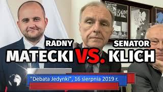 Radny MATECKI vs. senator KLICH - Jaki jest program Platformy Obywatelskiej?