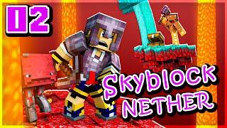 Ninjaxx VS Frigiel, le duel ! | Skyblock Nether #02