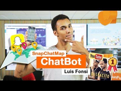 SNAPCHAT MAP, Chat Bot By Orange And Luis Fonsi