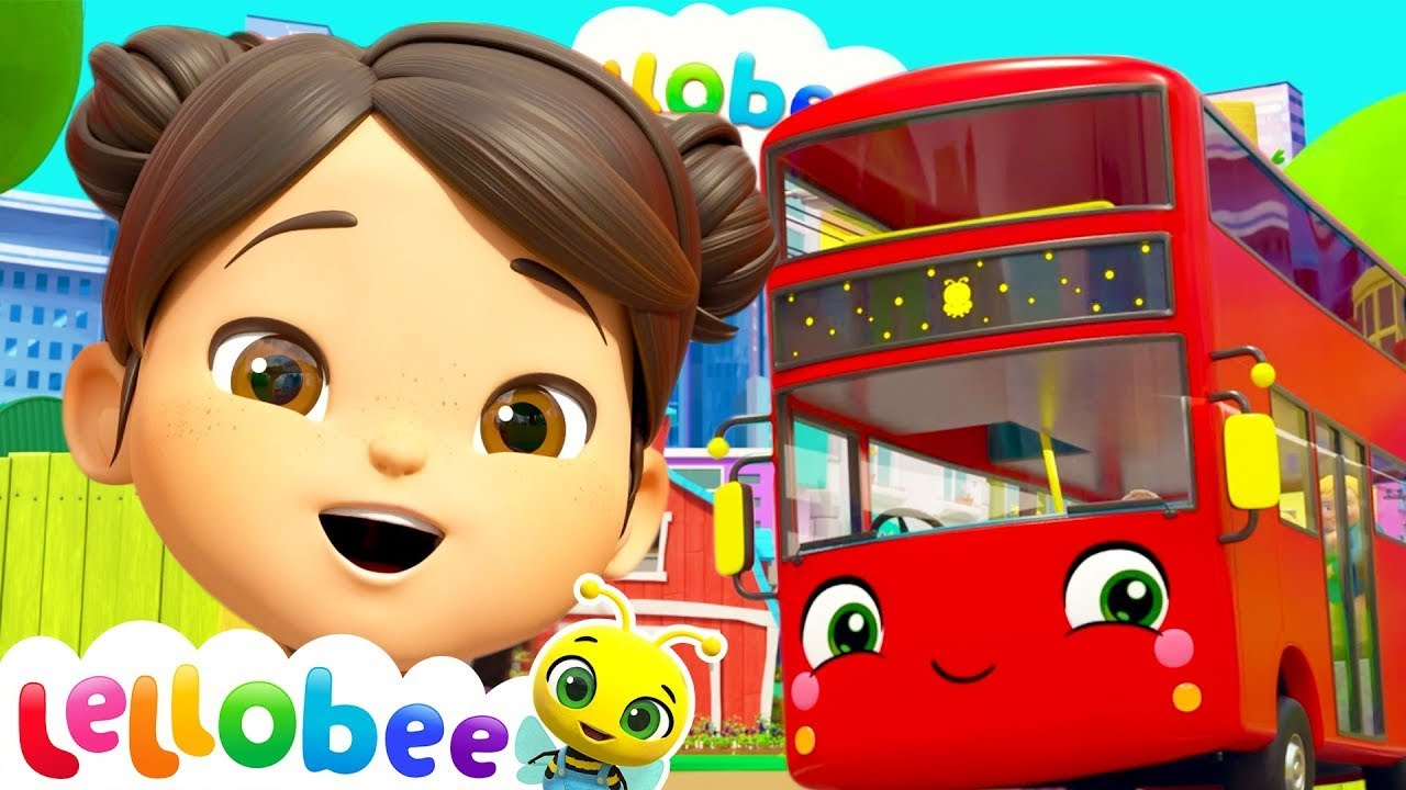 Wheels On The Bus   Lellobee City Farm!   Learning Videos For Kids   Educational Videos For Toddlers