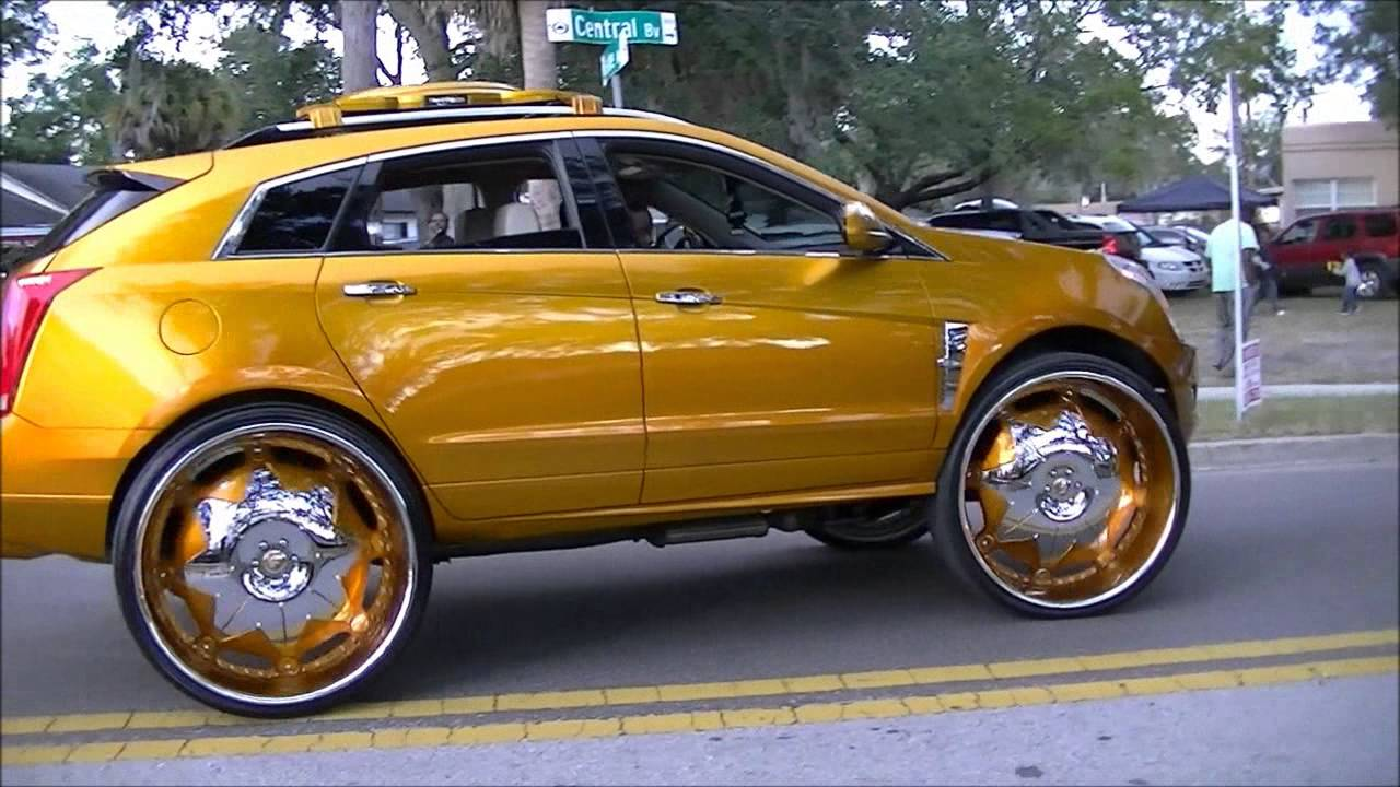 Candy Gold 2012 Cadillac Srx Truck On 32 Quot Forgiatos Slidin