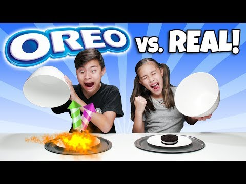 OREO VS REAL FOOD CHALLENGE - Switch Up!!! 14 Flavors Of Cookies Or Real?