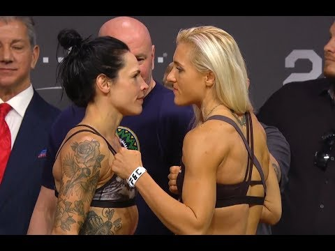 Lina Länsberg vs. Yana Kunitskaya - Weigh-in Face-Off - (UFC 229: Khabib vs. McGregor) - /r/WMMA