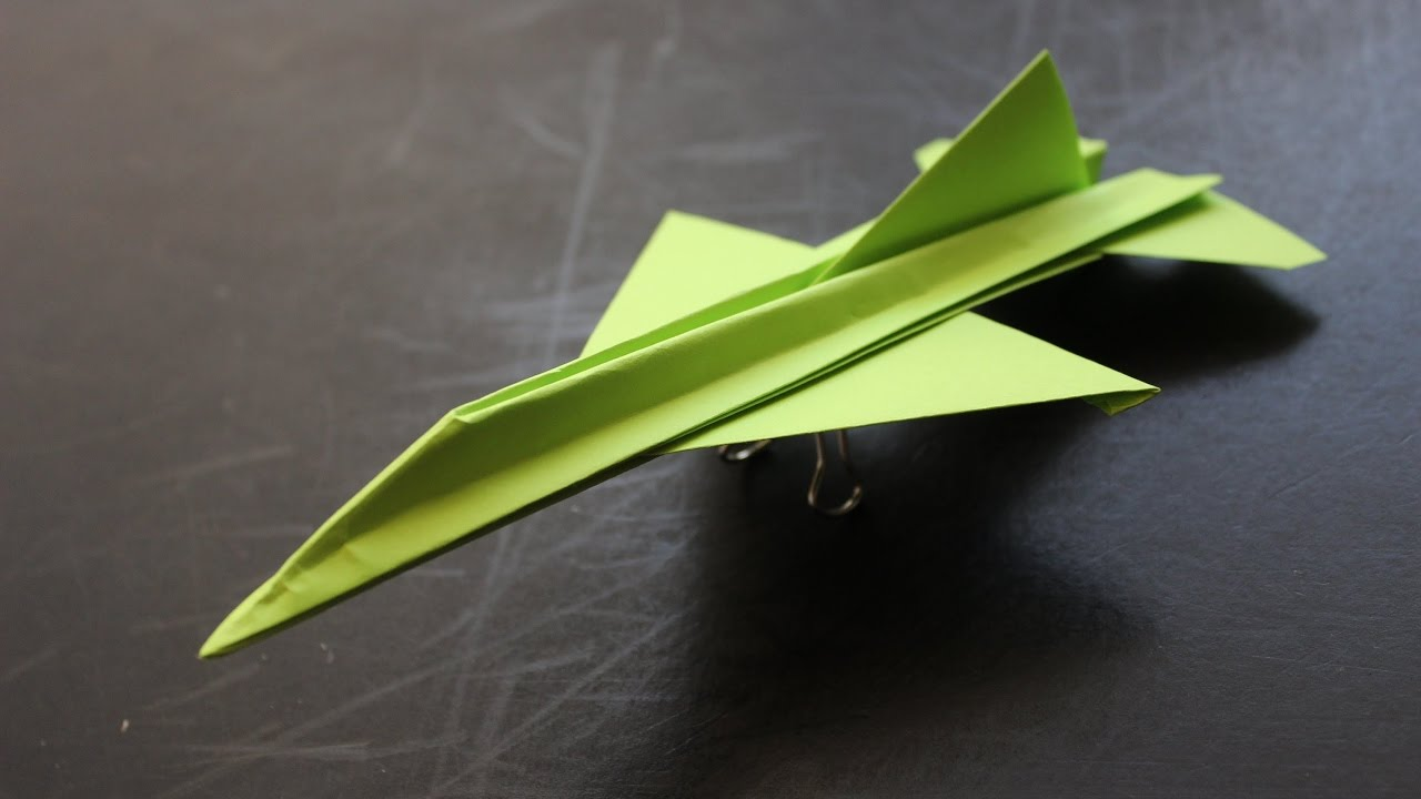 how to make a paper airplane origami instructions f16