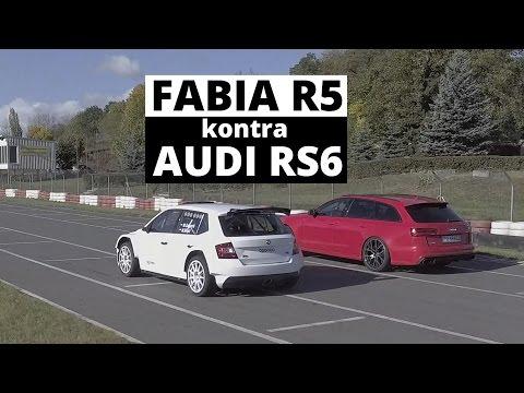 Skoda Fabia R5 vs Audi RS 6 - wyścig - Zachar OFF