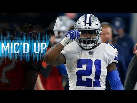 "Ezekiel Elliott Mic'd Up vs. Buccaneers ""Cowboy nation let's just get that playoff spot"" 