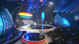 Laskar Pelangi - Idola Cilik & Giring Nidji @Indonesian Movie Award  2010