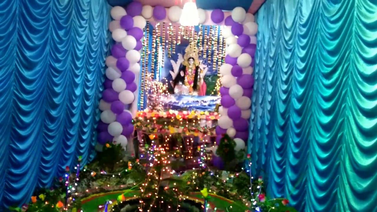 saraswati puja decoration youtube