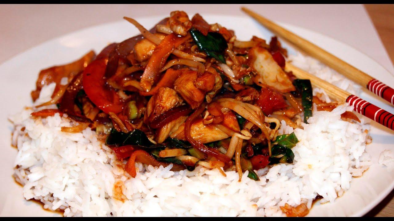 Chinski Kurczak Wok Z Warzywami Youtube