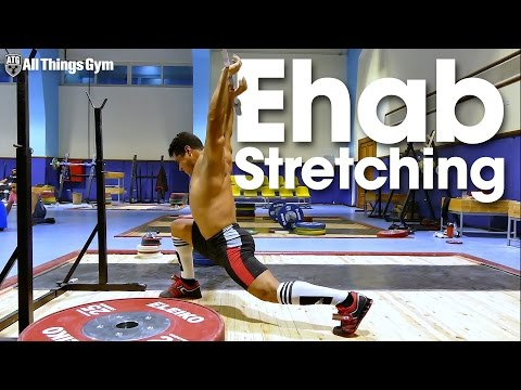 Mohamed Ehab Post PR Session Stretching Routine ATG on Tour in Egypt