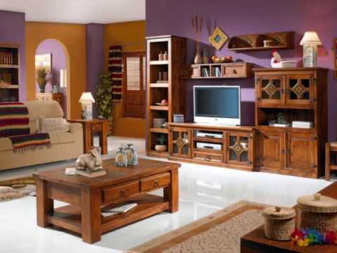 Muebles rusticos ilmode net youtube for Decoracion de comedores rusticos