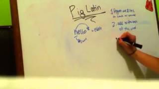 Code: Pig Latin