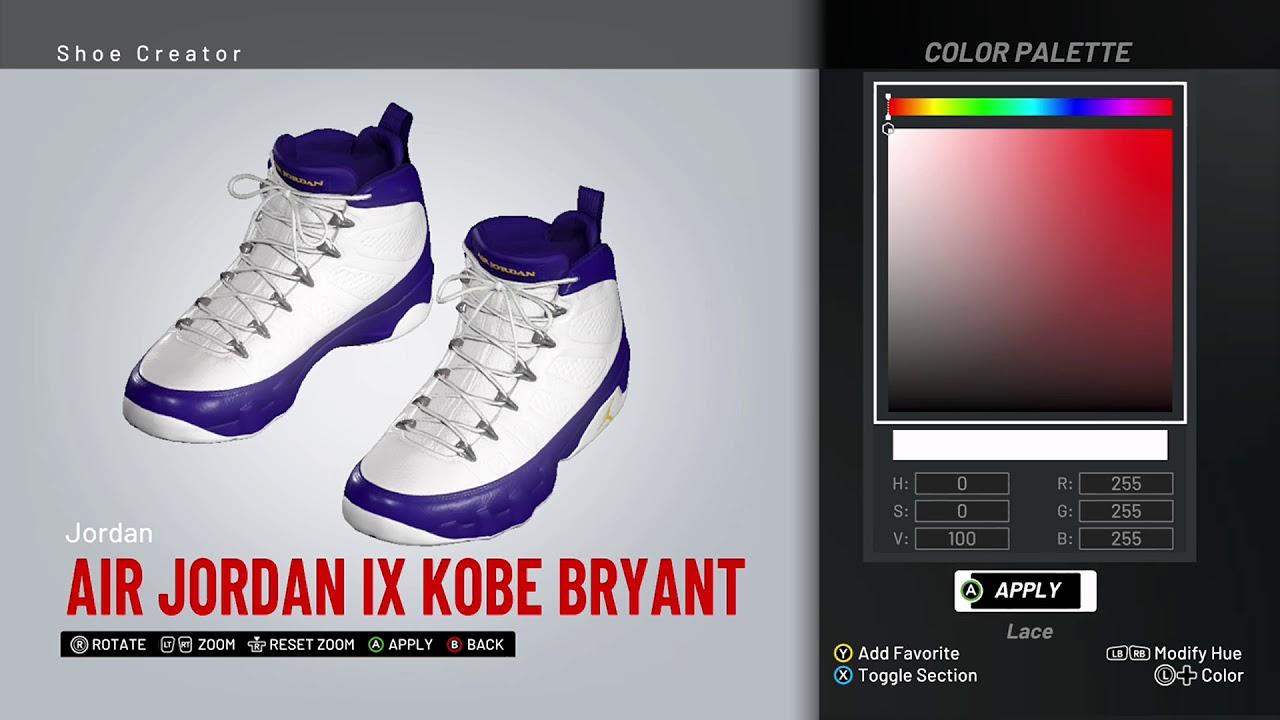f033ee5c1da NBA 2K19 Shoe Creator - Air Jordan 9