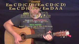 move luke bryan guitar lesson chord chart capo 1st em d a c d b7