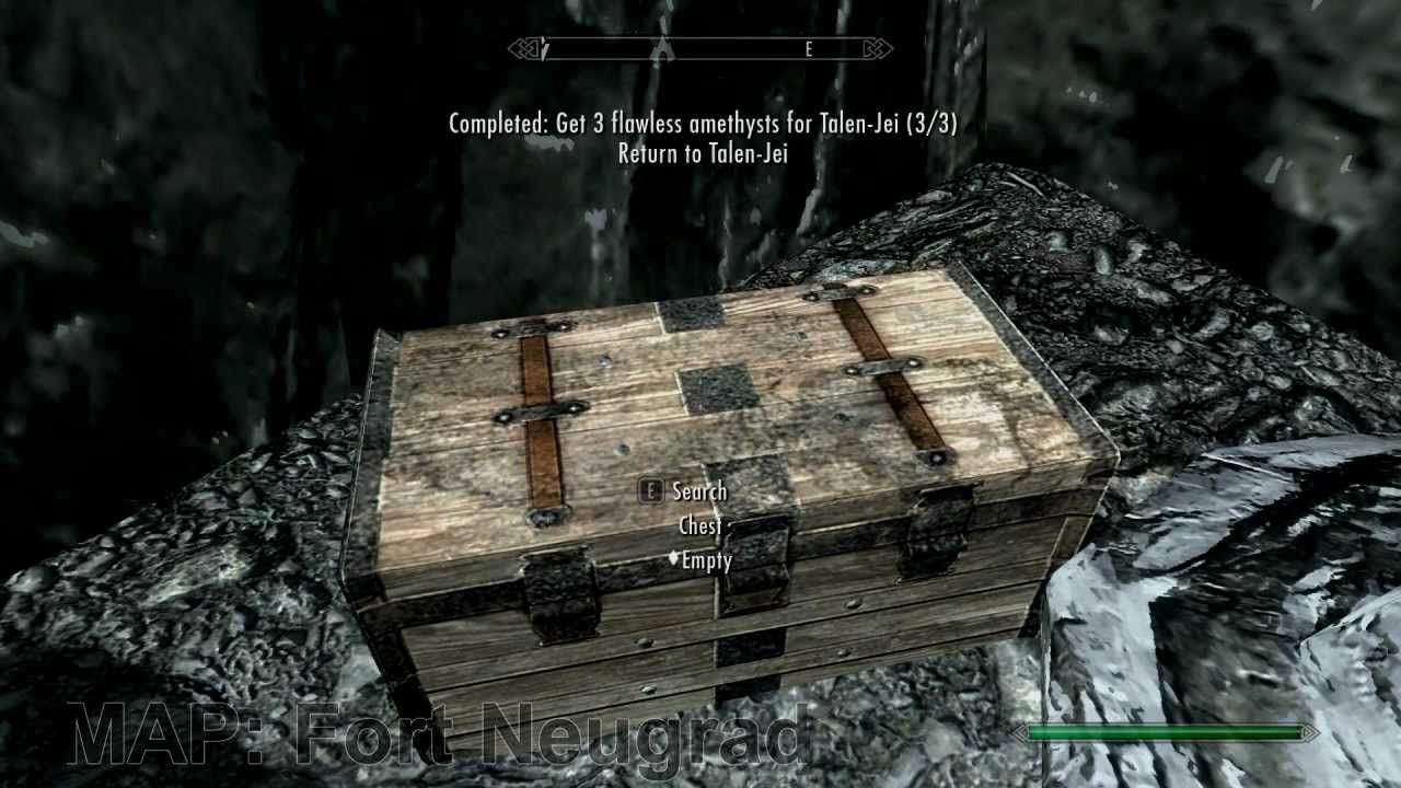 Skyrim - Treasure Map 1-10 + Fort Neugrad - YouTube