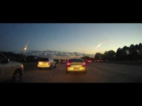 Driving in a traffic Jam - Interstate 75 - Tampa, FL