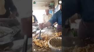 Mark wien eating burger in layri karachi
