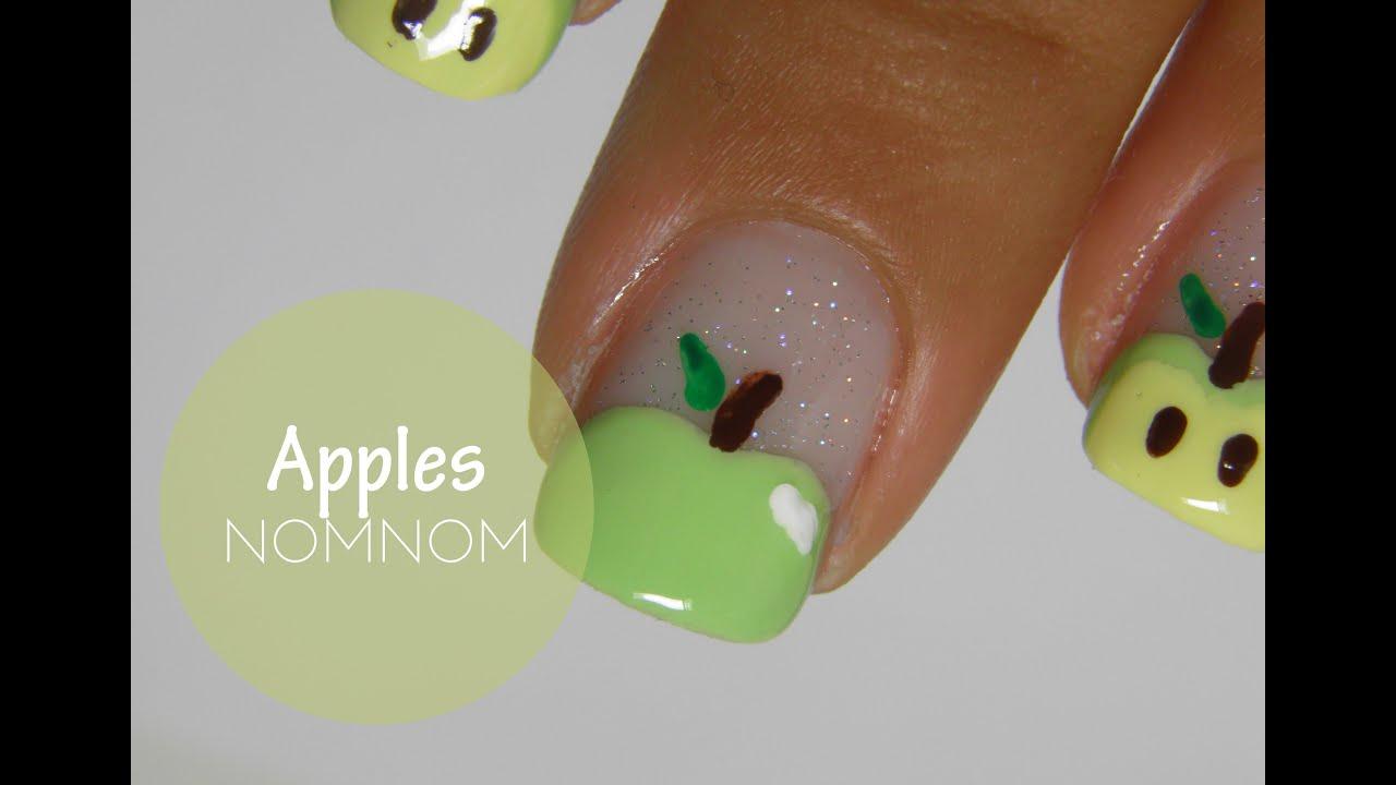 Fruit Apple nails - YouTube