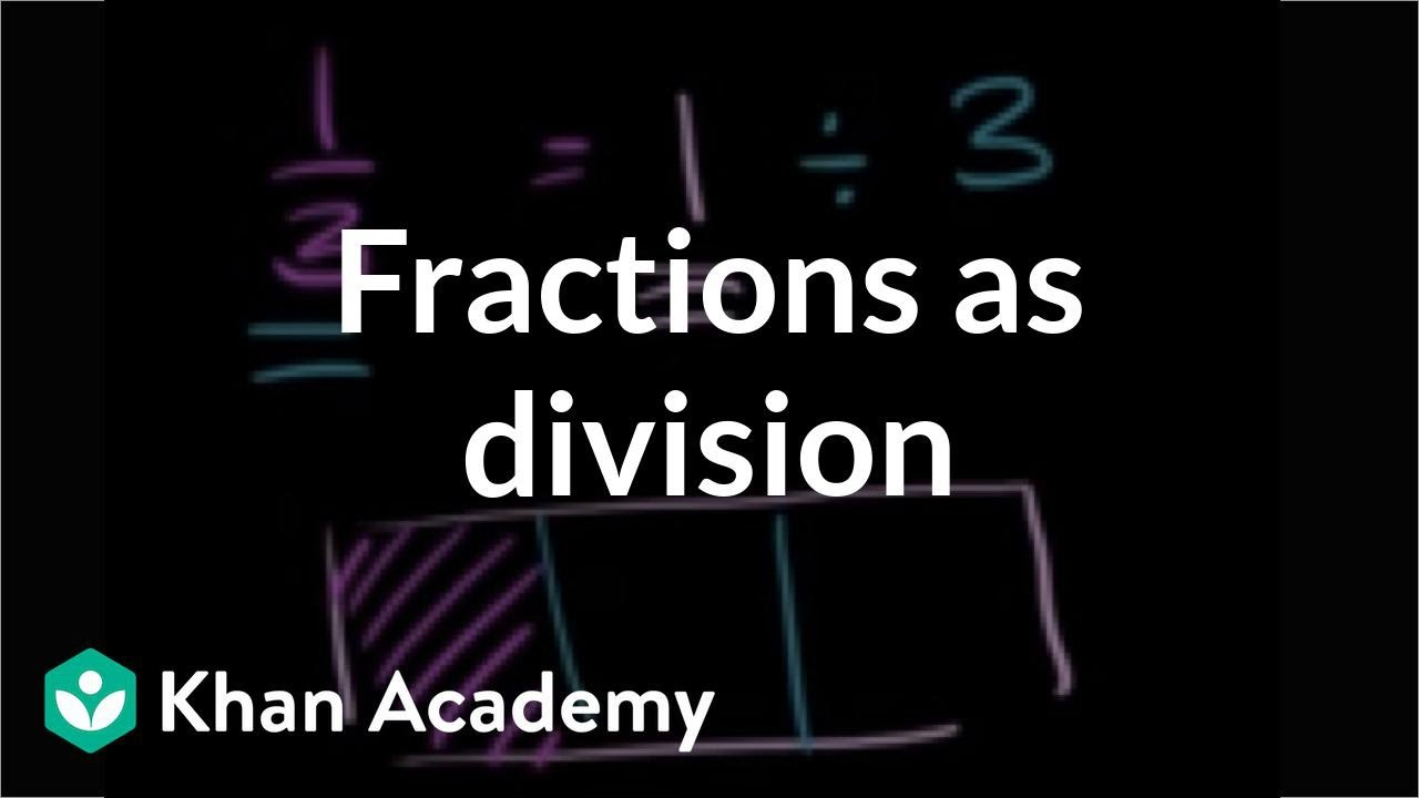 medium resolution of Understanding fractions as division (video)   Khan Academy
