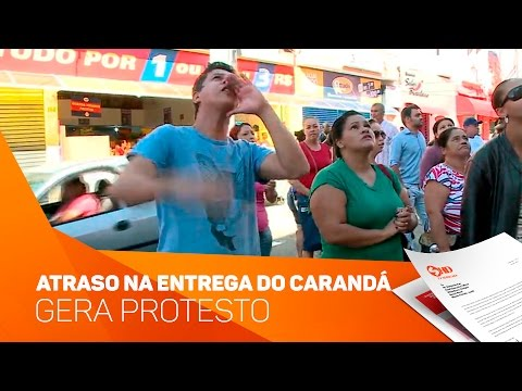 Atraso na entrega do Residencial Carandá gerou protestos - TV SOROCABA/SBT