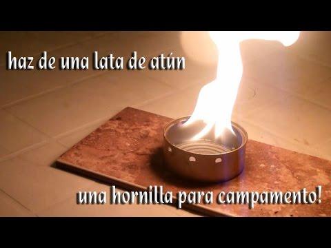 Como hacer una mini estufa con una lata de Atún