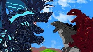 Naga Godzilla Geogantis vs Shin Godzilla And Godzilla - Hungry Dragon