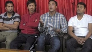Nepali Cricket National Team press conference boycott all National and International games
