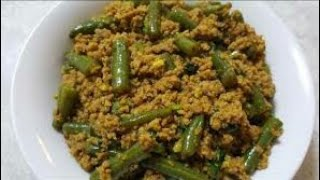 Keema french bean recipe punjabi style spicy tasty quick and easy recipe vlog part 1/1