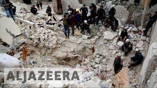 Syria's war: Air strikes kill at least 20 in Ariha
