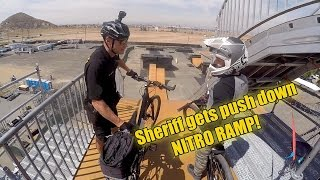 Insane COP hits mega ramp on Patrol BIKE!!