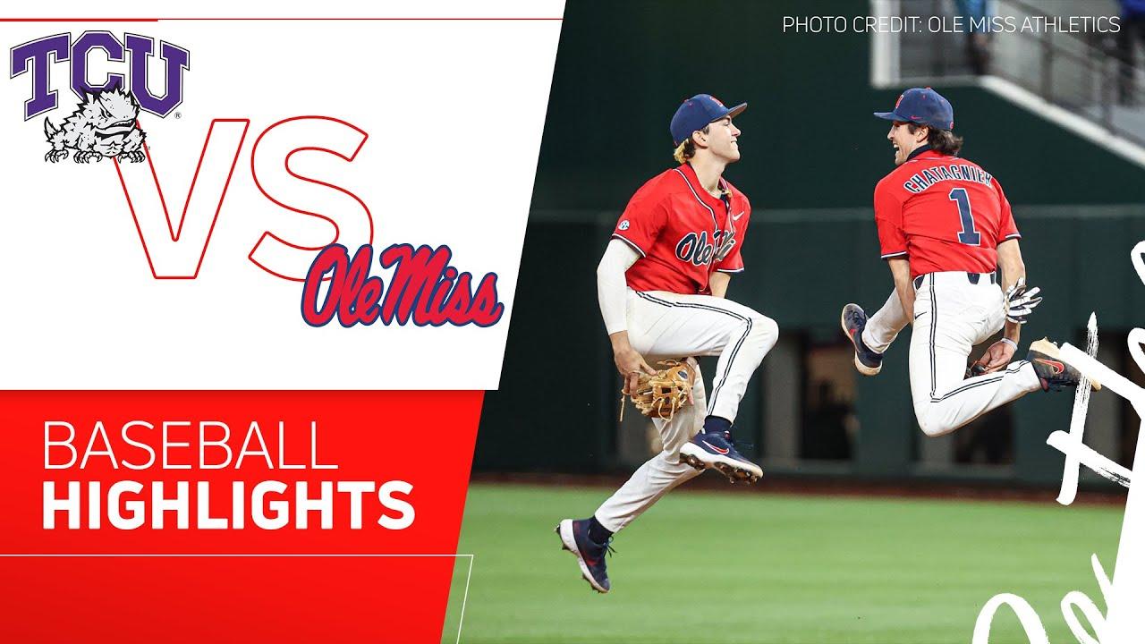Download Ole Miss vs TCU Baseball Highlights   2021 State Farm College Baseball Showdown