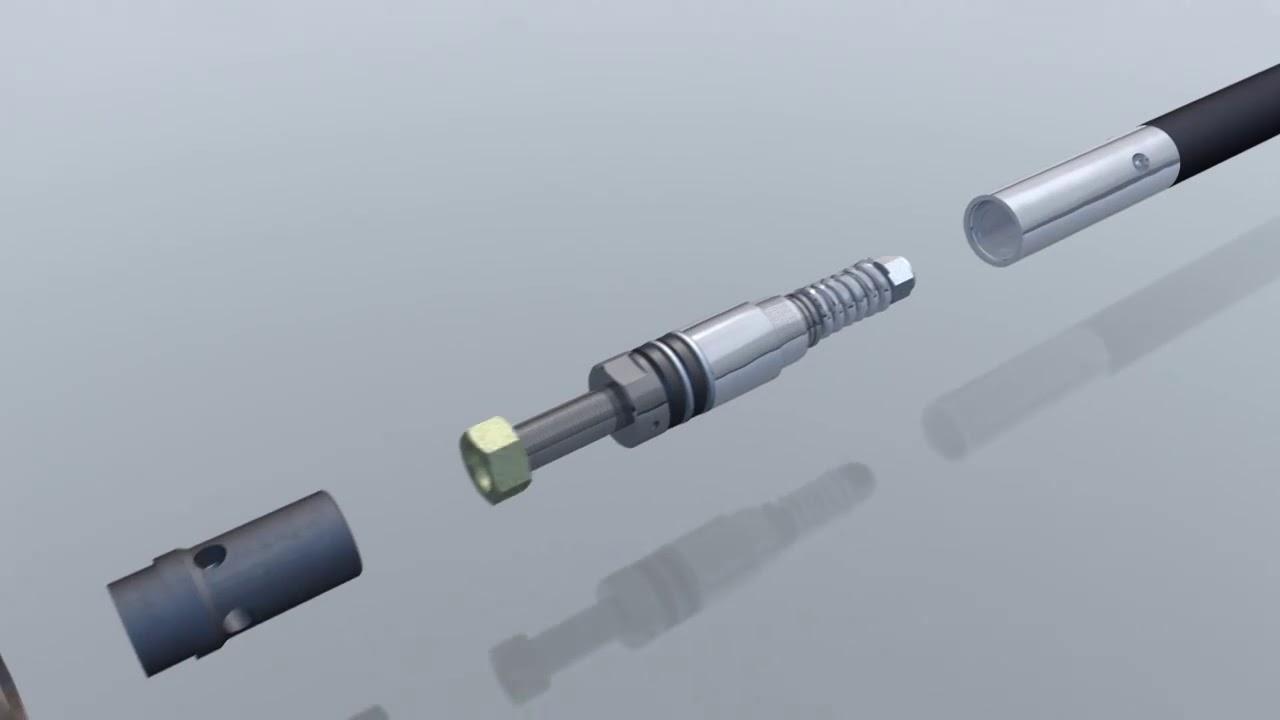 Wireline tools animation
