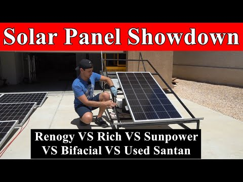 Solar Panel Showdown: Sunpower VS Bifacial VS Used VS Renogy VS Rich Solar