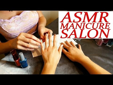 I Do Your Nails! - ASMR Role Play Esthetician Visit Manicure Binaural ASMR Whisper Ear to Ear