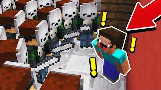 100s OF MURDERERS vs 1 MINECRAFT NOOB!