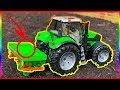RC tractor farming with Bruder Amazone ZA-M Max Fertiliser Spreader